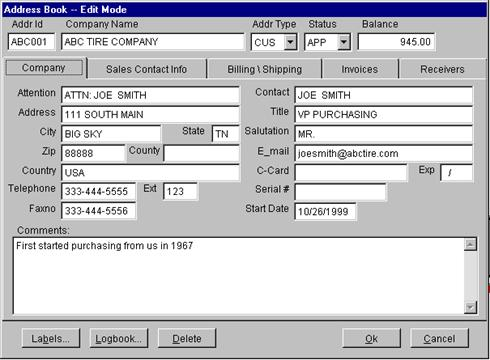 address book for computer