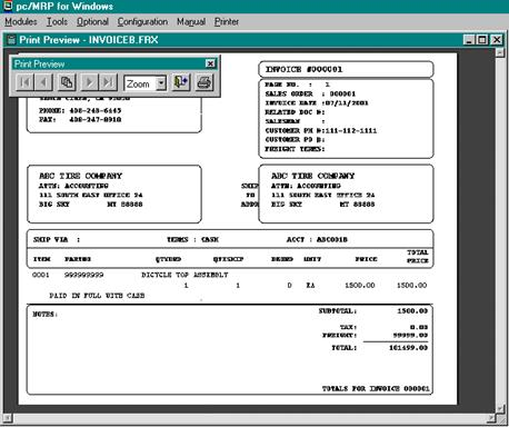 INVOICE MODULE - Windows invoice template