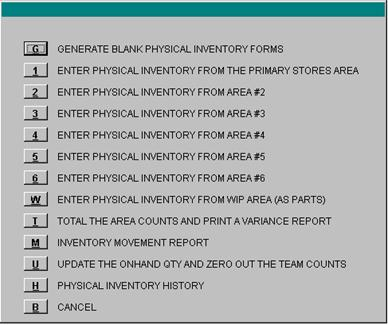 physical inventory and cycle count module